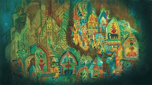 Indus City Digital Print by Dr. Bharati Mate,Conceptual