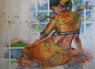 Untitled by Ramchandra Kharatmal, , , Brown color