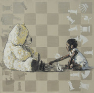 Informal II by Manojkumar M.Sakale, Pop Art Painting, Acrylic on Canvas, Beige color