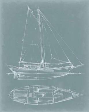 Yacht Sketches III Digital Print by Harper, Ethan,Illustration