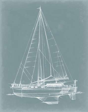 Yacht Sketches I Digital Print by Harper, Ethan,Illustration