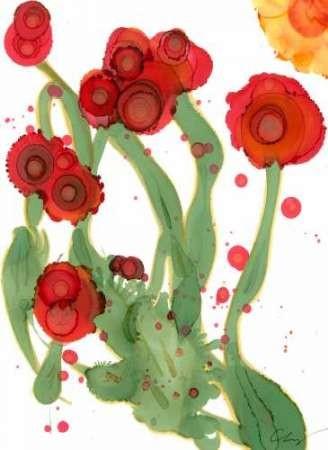 Poppy Whimsy III Digital Print by Baynes, Cheryl,Impressionism