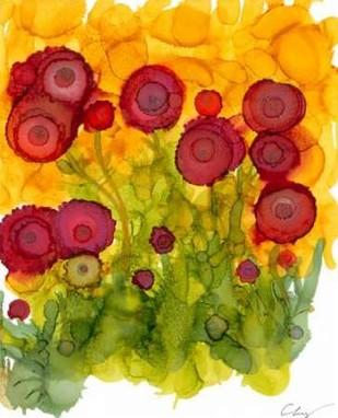 Poppy Whimsy VIII Digital Print by Baynes, Cheryl,Impressionism