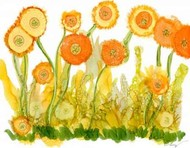 Sunlit Poppies II Digital Print by Baynes, Cheryl,Decorative