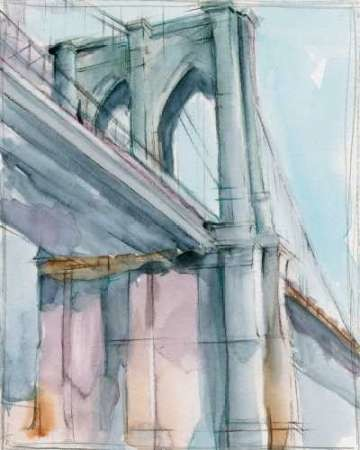 Watercolor Bridge Study II Digital Print by Harper, Ethan,Impressionism