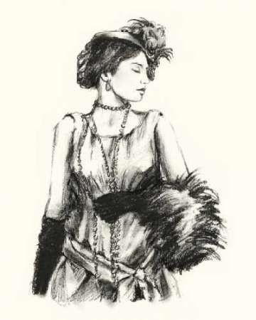 Vintage Fashion I Digital Print by Harper, Ethan,Illustration