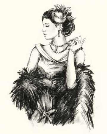 Vintage Fashion II Digital Print by Harper, Ethan,Illustration