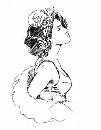 Elegant Fashion Study I Digital Print by Harper, Ethan,Illustration