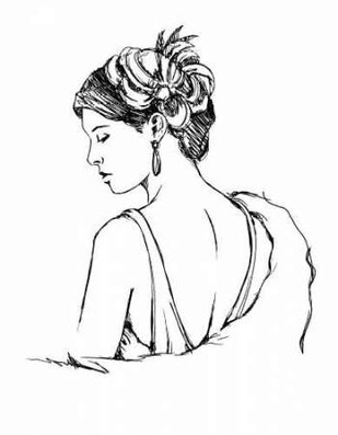 Elegant Fashion Study IV Digital Print by Harper, Ethan,Illustration