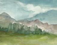 Plein Air Mountain View II Digital Print by Harper, Ethan,Impressionism