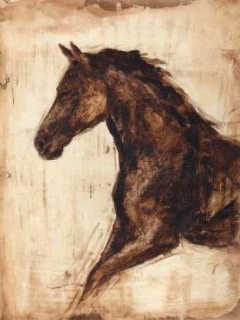 Weathered Equestrian I Digital Print by Harper, Ethan,Impressionism
