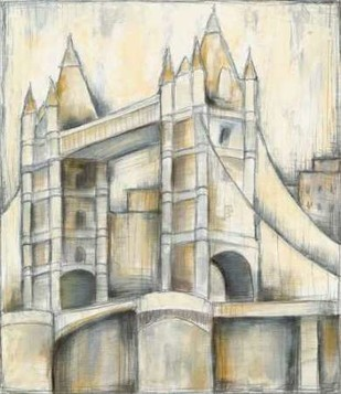 Urban Bridgescape II Digital Print by Goldberger, Jennifer,Decorative