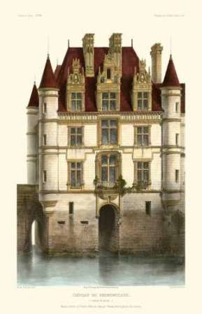 French Chateaux in Brick I Digital Print by Petit, Victor,Realism