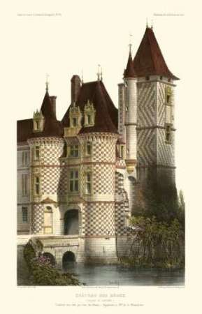 French Chateaux in Brick II Digital Print by Petit, Victor,Realism