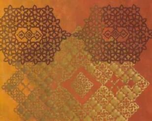 Golden Henna II Digital Print by Zarris, Chariklia,Decorative