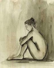 Sumi-e Figure IV Digital Print by Harper, Ethan,Illustration