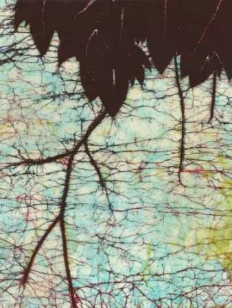 Batik Hanging Leaves II Digital Print by Davis, Andrea,Impressionism
