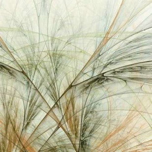 Fractal Grass VI Digital Print by Burghardt, James,Impressionism