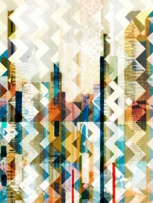 Urban Chevron I Digital Print by Vision Studio,Abstract
