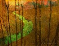 Woodblock Stream I Digital Print by Vest, Chris,Impressionism
