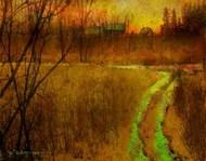 Woodblock Stream II Digital Print by Vest, Chris,Impressionism