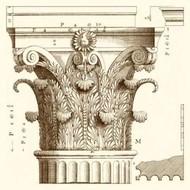 Corinthian Detail II Digital Print by Vision Studio,Art Deco