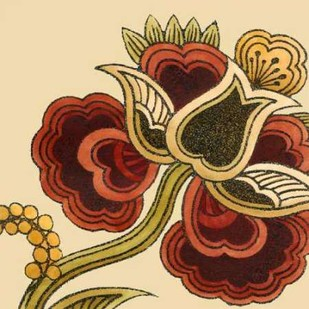 Paprika Floral I Digital Print by Vess, June Erica,Decorative