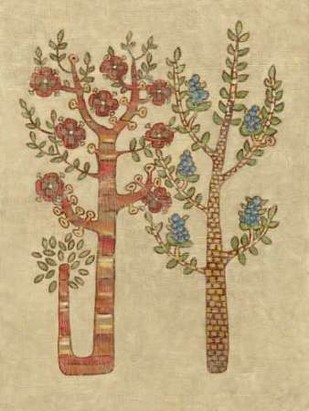 Linen Trees II Digital Print by Zarris, Chariklia,Folk