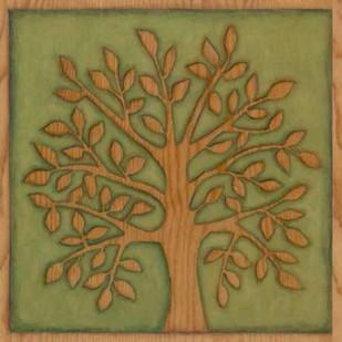 Arbor Woodcut I Digital Print by Meagher, Megan,Decorative, Folk