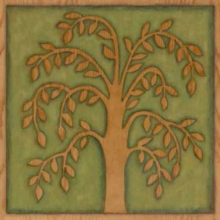 Arbor Woodcut II Digital Print by Meagher, Megan,Decorative, Folk