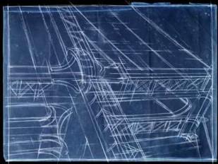 Bridge Blueprint I Digital Print by Harper, Ethan,Decorative