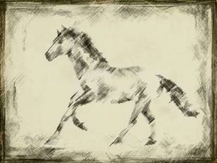 Equine Study II Digital Print by Harper, Ethan,Impressionism