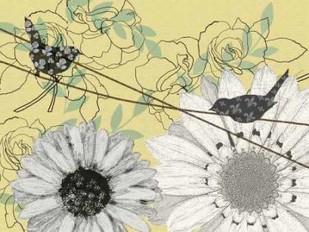 Birds On A Wire II Digital Print by Reynolds, Jade,Decorative
