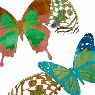 Scattered Butterflies I Digital Print by Jasper, Sisa,Decorative