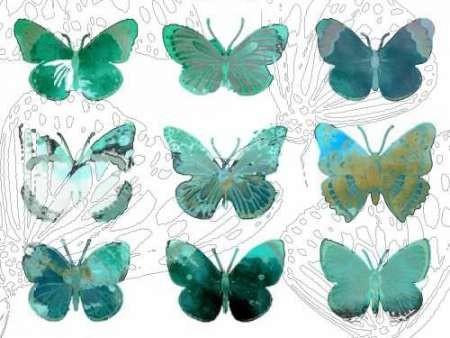 Layered Butterflies I Digital Print by Jasper, Sisa,Decorative