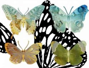 Layered Butterflies IV Digital Print by Jasper, Sisa,Decorative