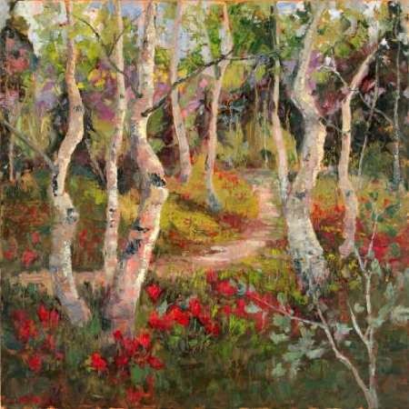 Four Seasons Aspens I Digital Print by Oleson, Nanette,Impressionism