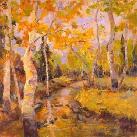 Four Seasons Aspens III Digital Print by Oleson, Nanette,Impressionism