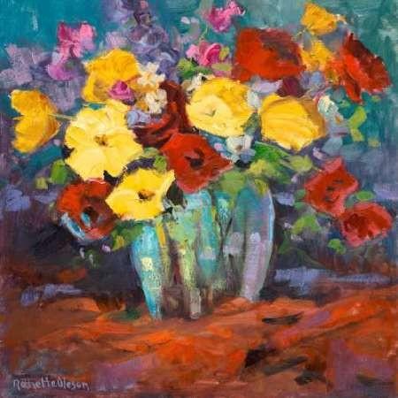 Floral Kaleidoscope I Digital Print by Oleson, Nanette,Impressionism