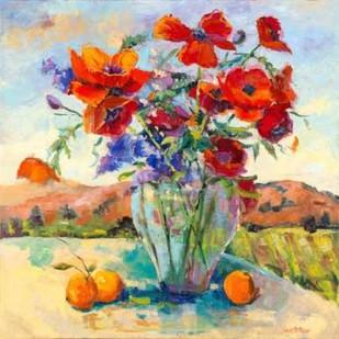Floral Kaleidoscope II Digital Print by Oleson, Nanette,Impressionism