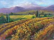 Vineyard Tapestry I Digital Print by Oleson, Nanette,Impressionism