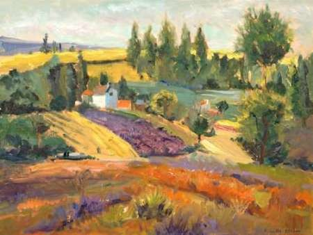 Vineyard Tapestry II Digital Print by Oleson, Nanette,Impressionism