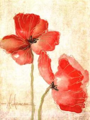 Vivid Red Poppies IV Digital Print by Herrera, Leticia,Impressionism