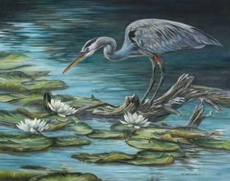 Heron Haven Digital Print by Mock, Carolyn,Impressionism
