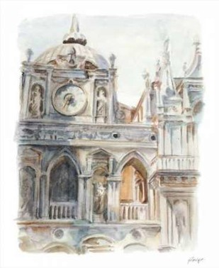 Architectural Watercolor Study II Digital Print by Harper, Ethan,Impressionism