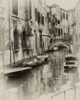 Six Boats Sepia Digital Print by Head, Danny,Impressionism