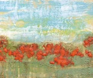 Coral Poppies II Digital Print by Goldberger, Jennifer,Impressionism