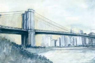 City Bridge I Digital Print by Meagher, Megan,Impressionism