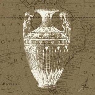Map Bottles II Digital Print by Burghardt, James,Decorative