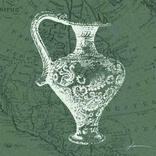 Map Bottles III Digital Print by Burghardt, James,Decorative